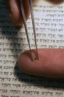 Bible inscribed on a grain of sand-silicon nanoparticle, Technion